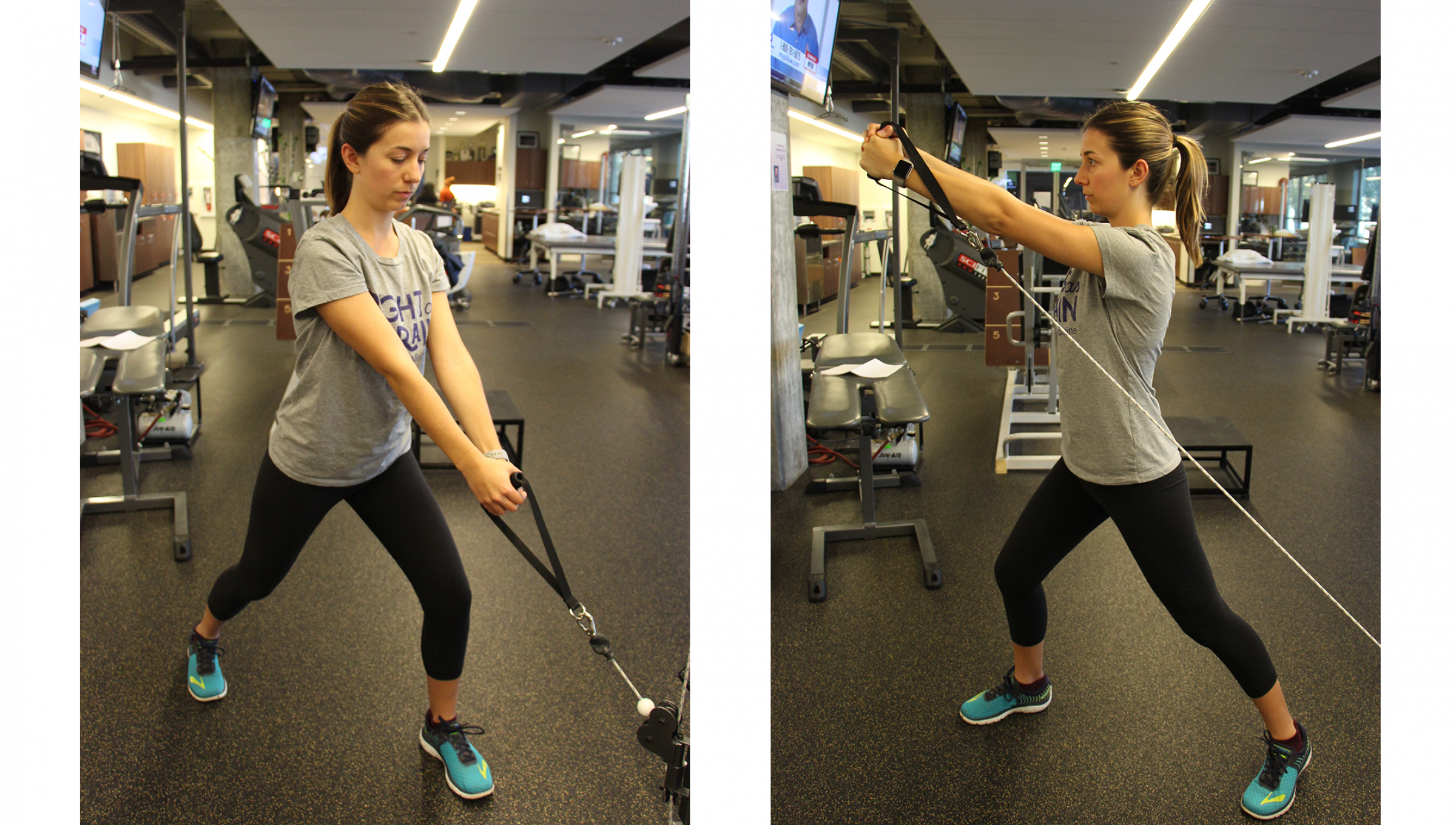 cable rotational lift exercise