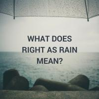 What Does Right as Rain Mean?