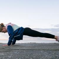 Woman performing plank