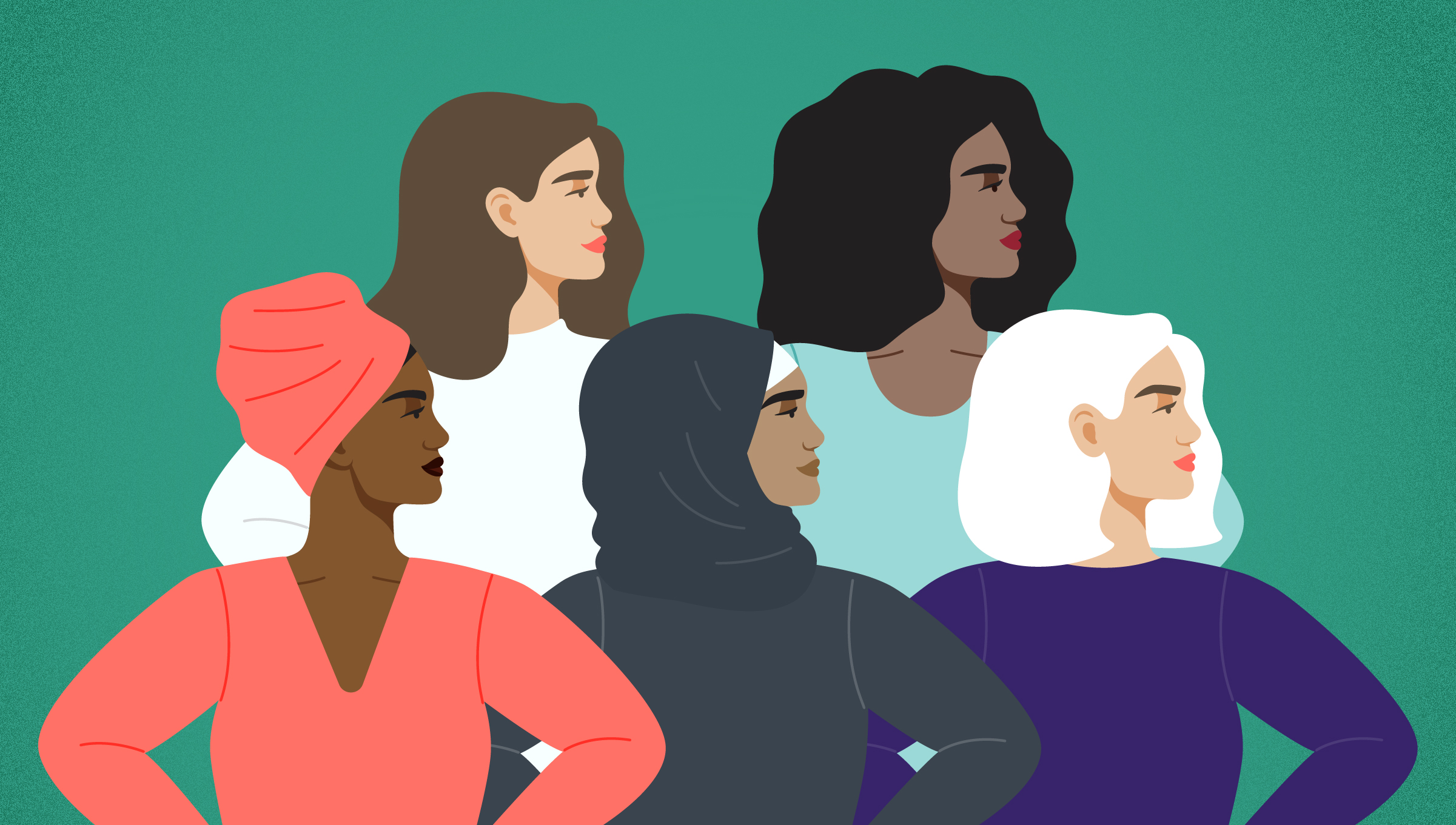 An illustration of a group of women.
