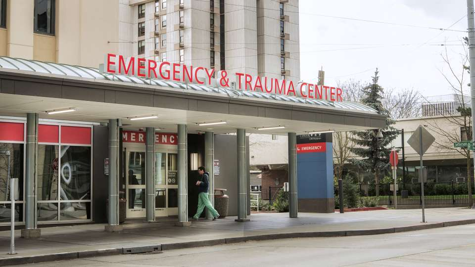 The emergency department of Harborview Medical Center.
