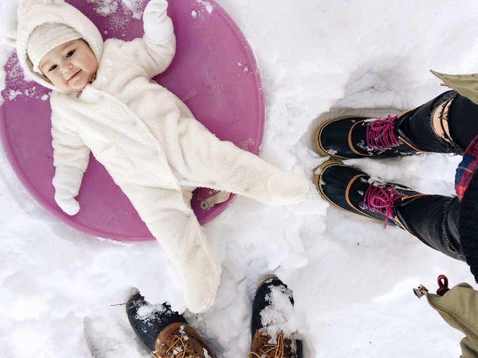 Baby in snow