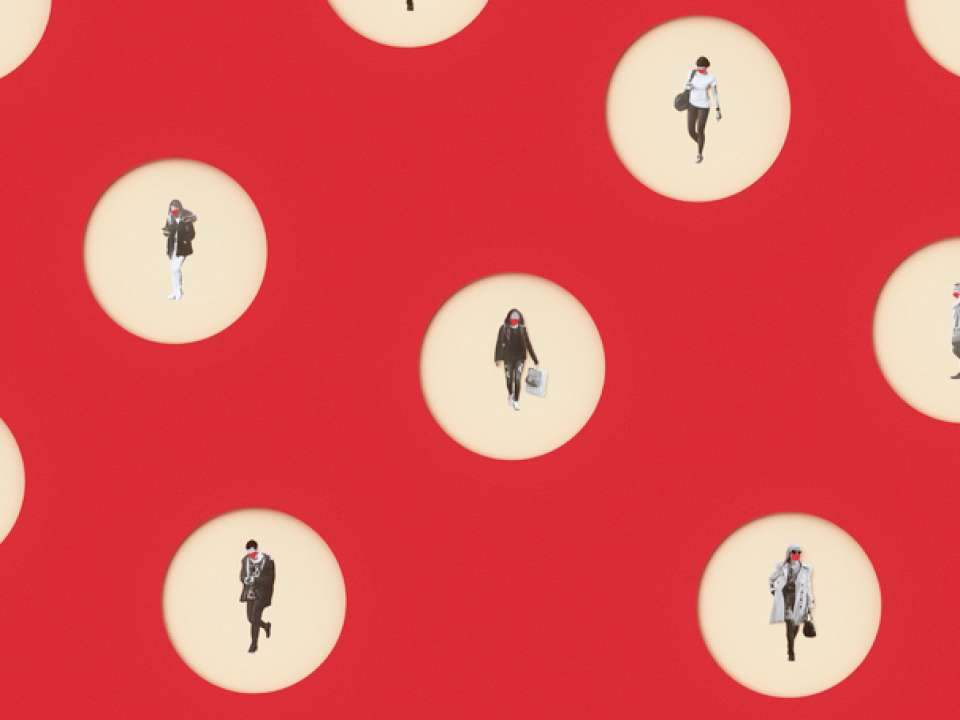 illustration of people in circles
